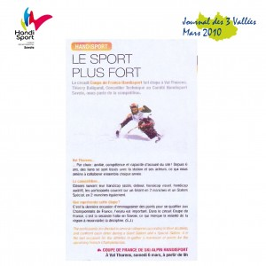 2. Article Journal des 3 Vallees Mars 2010