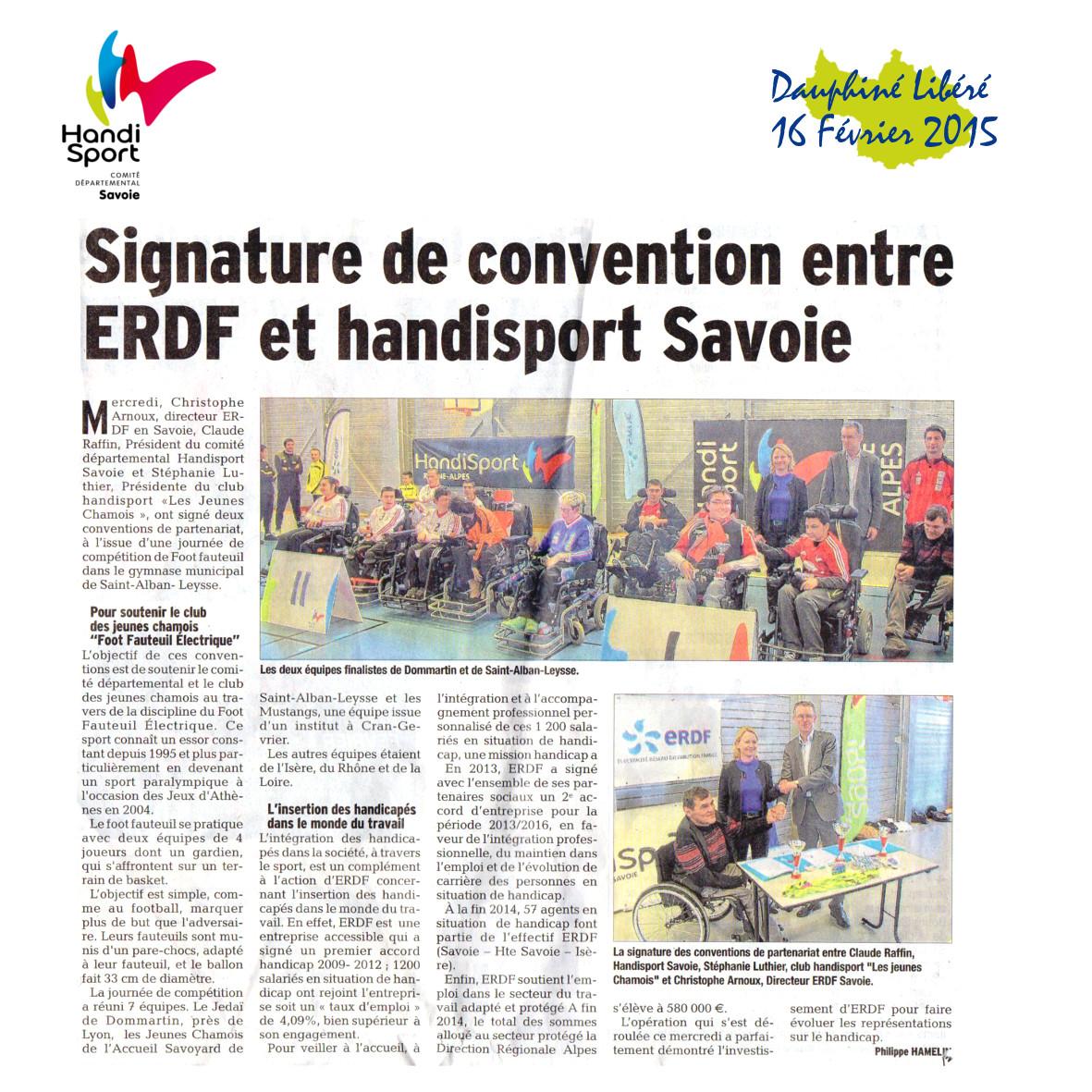 Handisport Savoie - ERDF